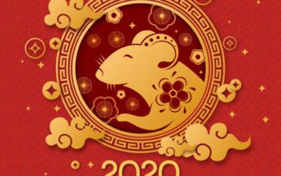 Nouvel an chinois 2020 – Année du rat de métal – Chance et prospérité