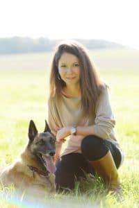 Aude et sa chienne